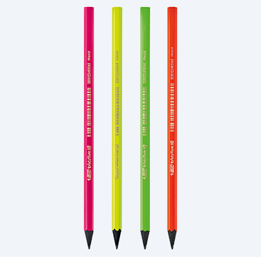 Creioane Grafit BIC Evolution Fluo